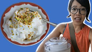 BOOZA - How to Make STRETCHY Ice Cream With a Thrift Store Ice Cream Maker - Will it Work?