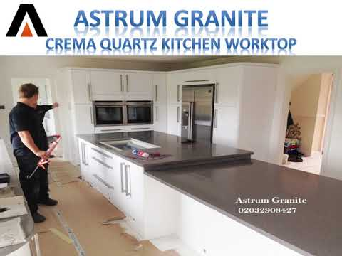 Get Best Crema Quartz Kitchen Worktop in London UK - Astrum Granite