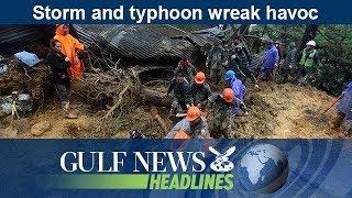 Storm and typhoon wreak havoc - GN Headlines