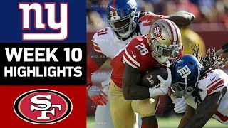 Giants vs. 49ers   NFL Week 10 Game Highlights