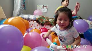 What happens when you the kids room with 420 balloons? Twinkle Twinkle Little star nursery rhyme