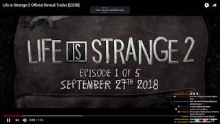 (Live Reaction to Life is Strange 2 Trailer) Life is strange 2 COUNTDOWN to reveal stream
