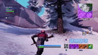 Playing  Fortnite rock kid 23