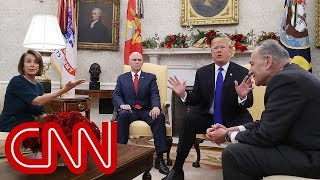 Trump clashes with Pelosi, Schumer in Oval Office