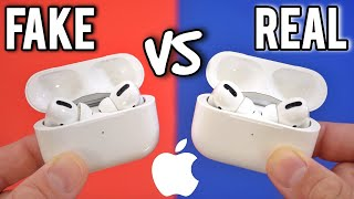 FAKE VS REAL Apple AirPods Pro - Buyers Beware! Perfect Clone!