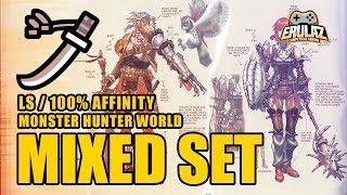 Set de Espada Larga 100% Afinidad / Monster Hunter World
