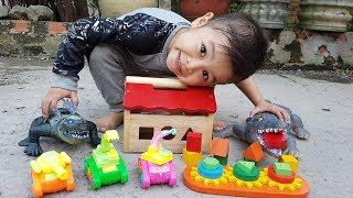 Trò Chơi Nhà Gỗ Xe Con ❤ ChiChi ToysReview TV ❤ Đồ Chơi Trẻ Em Baby Doli