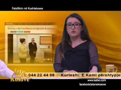 Jeta ne Kosove: Falsifikim në Kushtetuese