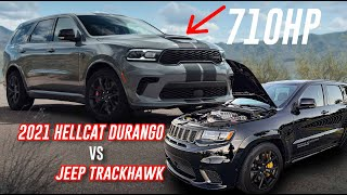 2021 Hellcat Durango VS Jeep Trackhawk?! Trackhawk Owner Reacts To New 710HP Durango