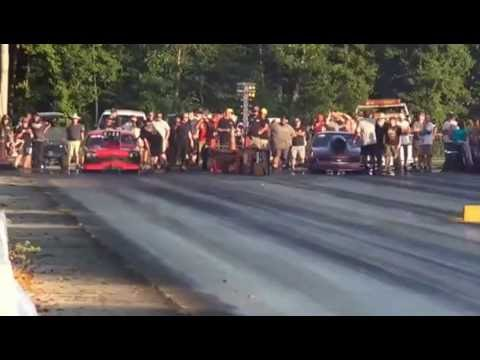 TOMMY MAUNEY (L) V/S CHRIS CLINE (R) 2nd. Rd. SHADY SIDE DRAGWAY SEPT. 5th.