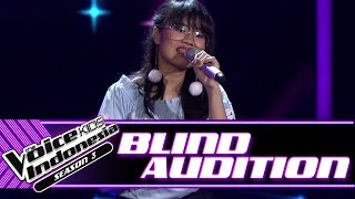 Bidadari - Chasing Pavements | Blind Auditions | The Voice Kids Indonesia Season 3 GTV 2018