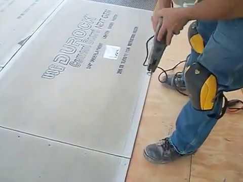 How To Install Backer Board Durock For Floor Tile Youtube