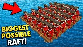 BIGGEST POSSIBLE RAFT IN STUPID RAFT BATTLE SIMULATOR! (Stupid Raft Battle Simulator Funny Gameplay)