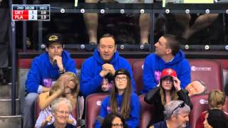 Kevin Spacey in the flesh at Florida Panthers game