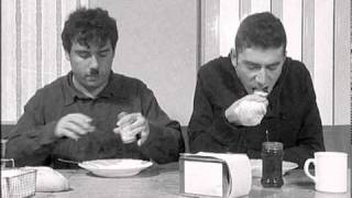"Seqüència de ""Tiempos modernos"", Charles Chaplin on cocaine."