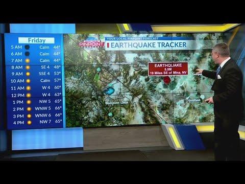 Magnitude 5.5 earthquake shakes Nevada, California state line