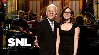 Monologue: Tina Fey Gets Motivated by Steve Martin - SNL