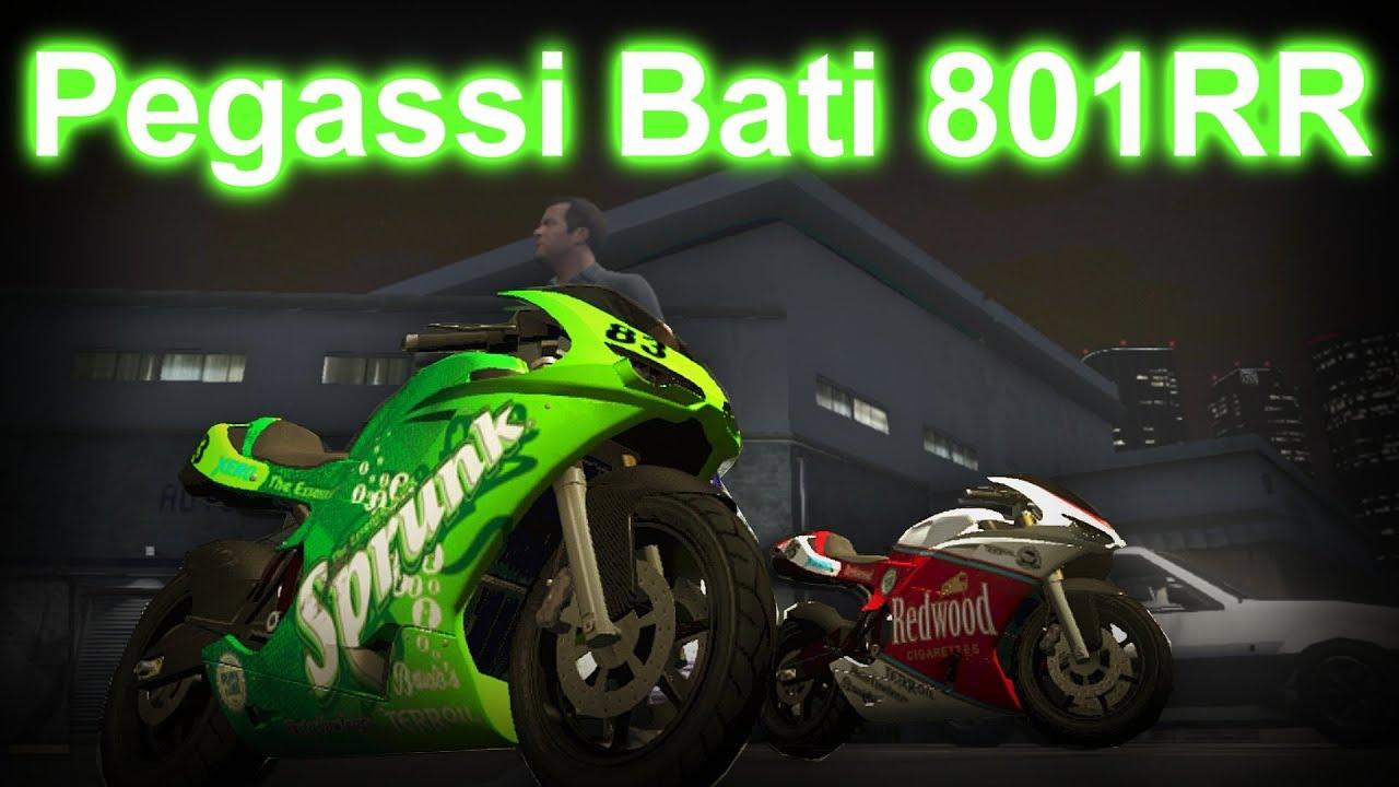 GTA V - How To Get Pegassi Bati 801RR (Ducati 1198) HD ...