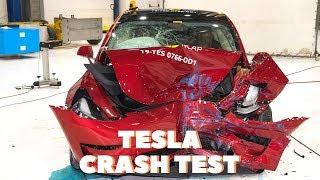 Carsh Test Tesla Model 3 ( Very safe ) 2019 Euro NCAP