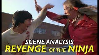 Revenge of the Ninja -  fight scene analysis / Indian and thugs vs Sho Kozugi