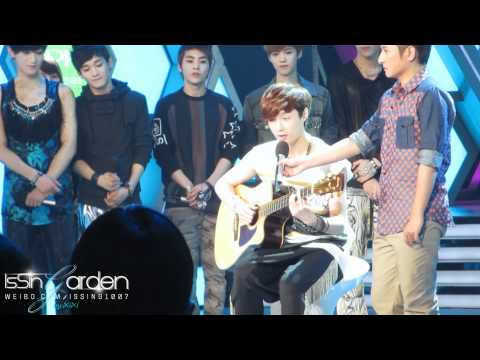 [IsSing-Garden]120425.Happy Camp.EXO-M.Lay.Playing Guitar