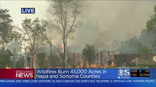 Santa Rosa Hilton Hotel Engulfed In Flames From Tubbs Fire