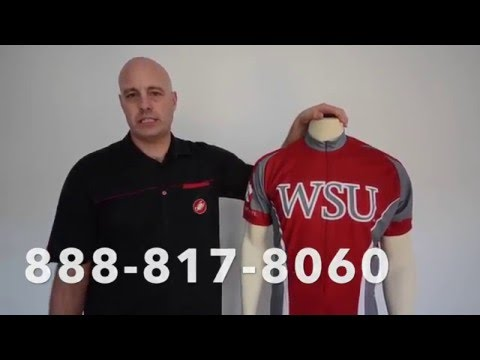 Washington State Cougars Cycling Jersey by Adrenaline Promotions