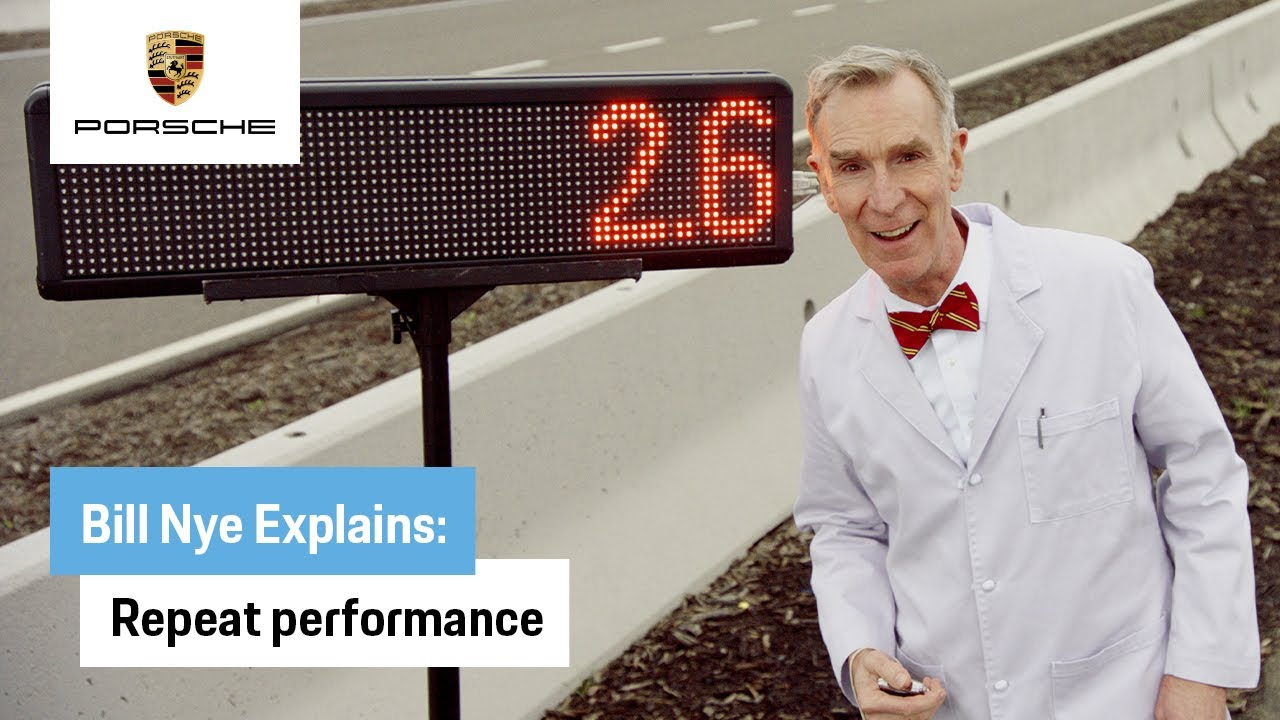 Bill Nye Explains the All-Electric Taycan: Repeat Performance