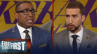 Nick Wright reacts to Magic's remarks about Pelinka & Lakers | NBA | FIRST THINGS FIRST