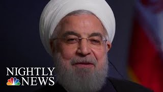 Citing U.S. Sanctions, Iranian President Says He Has No Plans To Meet Trump | NBC Nightly News