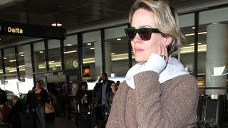 Actress Sarah Paulson Is Asked About Politics at LAX
