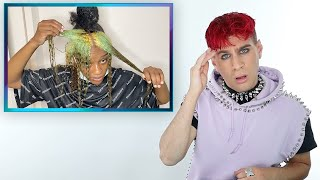 Hairdresser Reacts To People Dying Their Hair Green