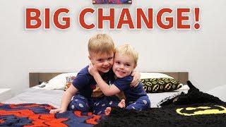 BIG BROTHER BEDROOM CHANGE!