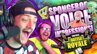 SPONGEBOB VOICE IMPRESSIONS RUIN PLAYER'S CHILDHOODS ON FORTNITE!