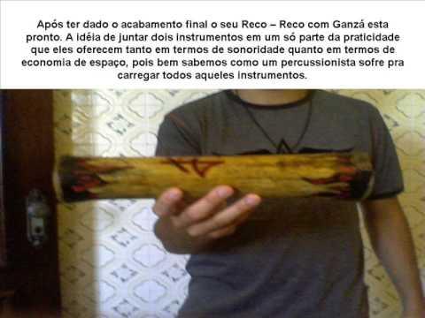 Fazendo Percussão -  Reco - Reco de bambu com Ganzá