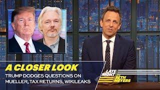 Trump Dodges Questions on Mueller, Tax Returns, WikiLeaks: A Closer Look