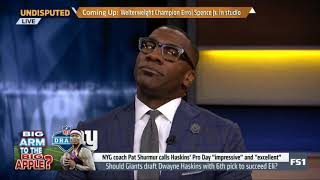 UNDISPUTED on FS1 | Shannon EXPRESSED Giants should draft Haskins with 6th pick to succeed Eli