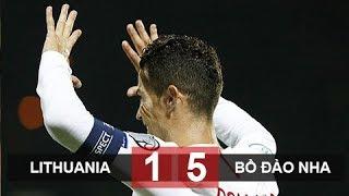 Ronaldo ghi bốn bàn Bồ Đào Nha hủy diệt Lithuania