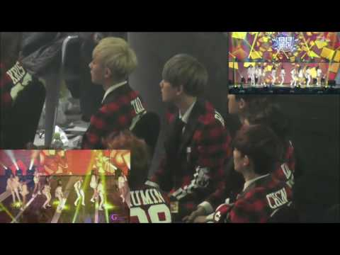140123 SMA Baekhyun Focus Reaction to SNSD I Got a Boy