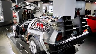 The REAL Back To The Future Delorean at Petersen Auto Museum