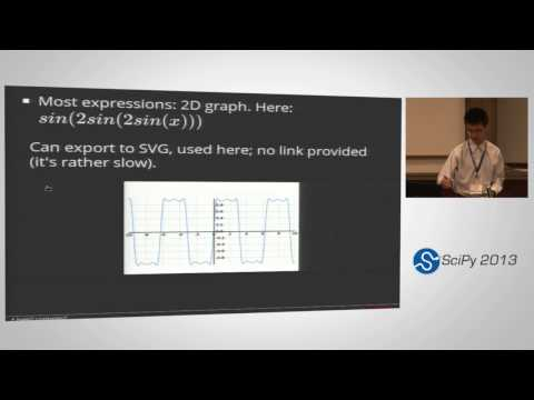 Image from SymPy Gamma and SymPy Live: Python and Mathematics Online; SciPy 2013 Presentation