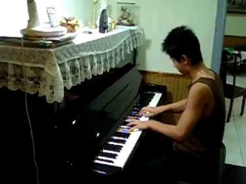 Henry playing piano