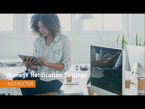 Getting Started - Manage Notifications - Instructor