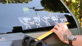 How To Install The Pirate Family Stickers