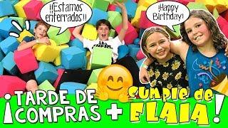 🍿 ¡¡Celebramos el CUMPLEAÑOS de ELAIA de ELASHOW!! 🎁  Enterrados en Parque de CAMAS ELÁSTICAS!! 🎉