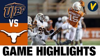 UTEP vs #14 Texas Highlights | Week 2 College Football Highlights | 2020 College Football