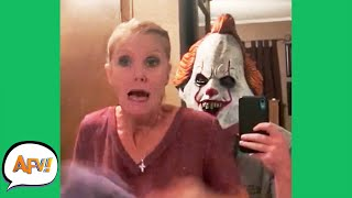 Try Not To SCREAM! (She FAILS) 😱😆 | Funny Pranks and Fails | AFV 2020
