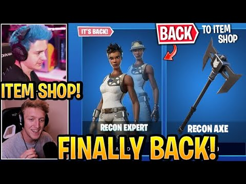 """Streamers React to *OG* """"RECON EXPERT"""" *BACK* (Rare Skin) to Item Shop Fortnite Update"""