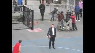 Person of Interest, Jim Caviezel plays basketball BTS, S2 & S3