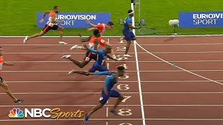 Rodgers leads USA sweep over Europe in men's 100m | NBC Sports